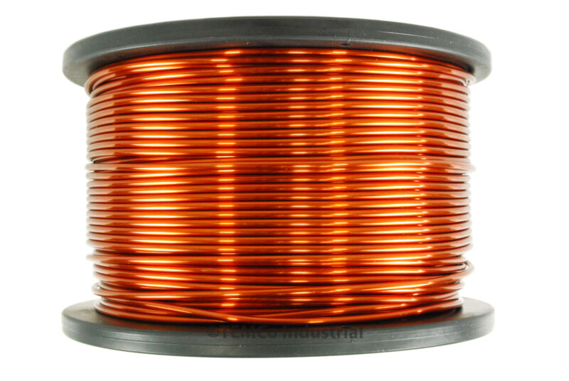 TEMCo Magnet Wire 10 AWG Gauge Enameled Copper 5lb 157ft 200C Coil Winding