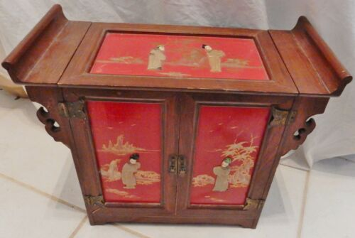 Oriental Asian Jewelry Stirage Trinket Box Dyachenko Banco Peoples Republic VTG