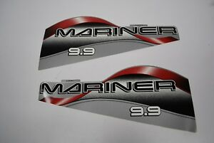 Mariner Outboard Hood Decals 9.9hp  OEM 37-830156-11/12