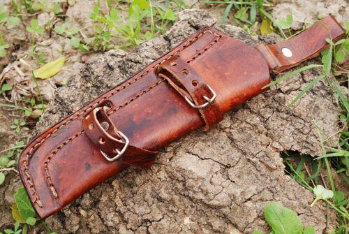CUSTOM HAND MADE PURE LEATHER SHEATH FOR FIXED BLADE KNIFE AH-931