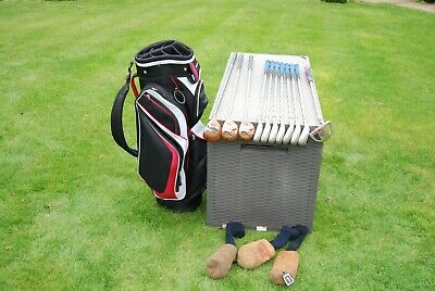 Full set of Men's golf clubs Taylormade Woods Nike Irons Bag  Putter T Armour