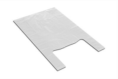 Supermarket Polyethylene Plastic Bags Grocery Food 34x64 0,015 White 100pcs