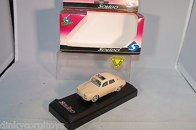 SOLIDO 4542 RENAULT DAUPHINE TOIT OUVRANT CREAM MINT BOXED RARE SELTEN