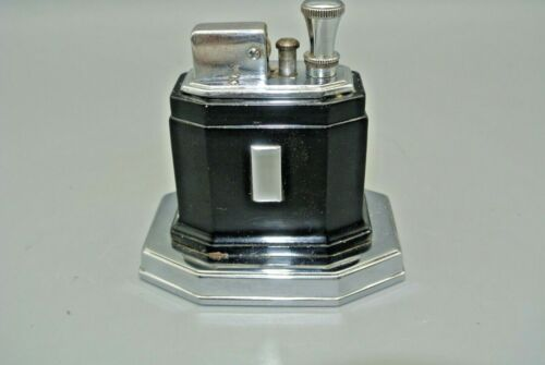 Vintage Ronson  Octette Touch Tip Table Lighter Pre WW2