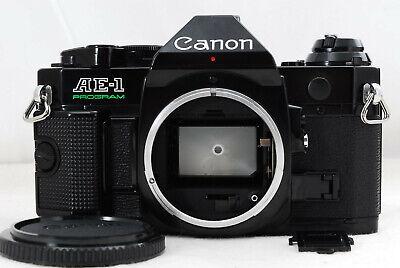 CANON AE-1 Program 35mm SLR Film Camera Black Body from Japan [Appearance Mint]
