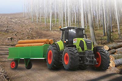 Brand New 1:28 Large Farm Tractor Plus Trailer Remote Control RC Toy Gift