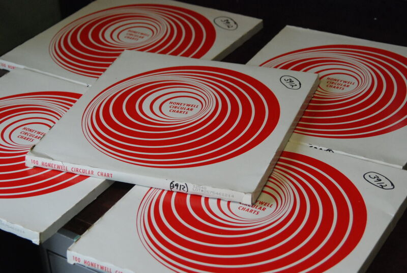 Honeywell 12548,  Circular Cart Paper  Lot of 500,  5 Boxes,  New