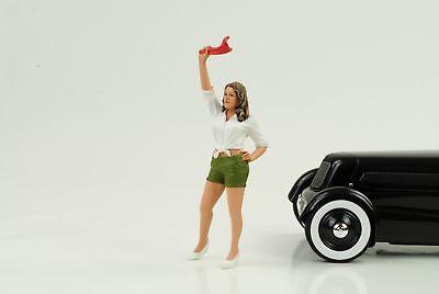 70 `s  Cool Girl Figur Figuren Street Racing 1:18 American Diorama no car 70 S Girl