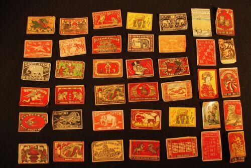 40 Pre WW2 Vintage Japanese Matchbox Match Box Labels