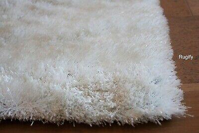 Shag Fuzzy Off White Cream Ivory Shaggy Decorative Designer
