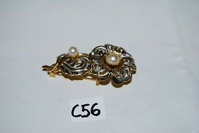 C56 Ancienne bijoux - Broche pour dame - élégance - brillant perle