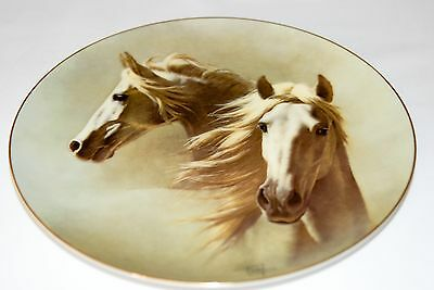 """Fred Stone Painting """"The Andalusian"""" Plate Horse Racing Collectible 6043"""