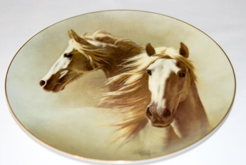 Fred Stone Painting The Andalusian China Plate Horse Racing Collectible 6043