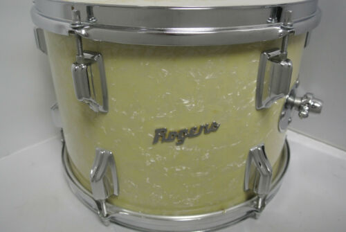 """Rogers POWERTONE 13"""" TOM in VINTAGE WHITE MARINE PEARL for YOUR DRUM SET! #K259"""