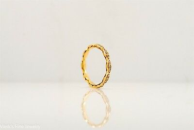 Tacori Sculpted Crescent Eternity Band Ring 18k Yellow Gold #462ET Wed (Tacori Eternity Ring)