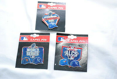 Kansas City Royals 2015 World Series Champions, 3 Lapel Pin Collection