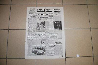 EL1 Old French Journal - L'Effort - 1942 - WW2 Hitler War - Militaria guerr