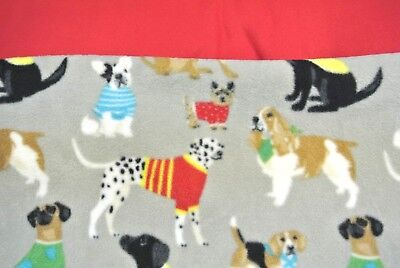 """Dog Blanket Yorkie Basset Hound Beagle Lab Can Be Personalized 28x44"""" Red"""