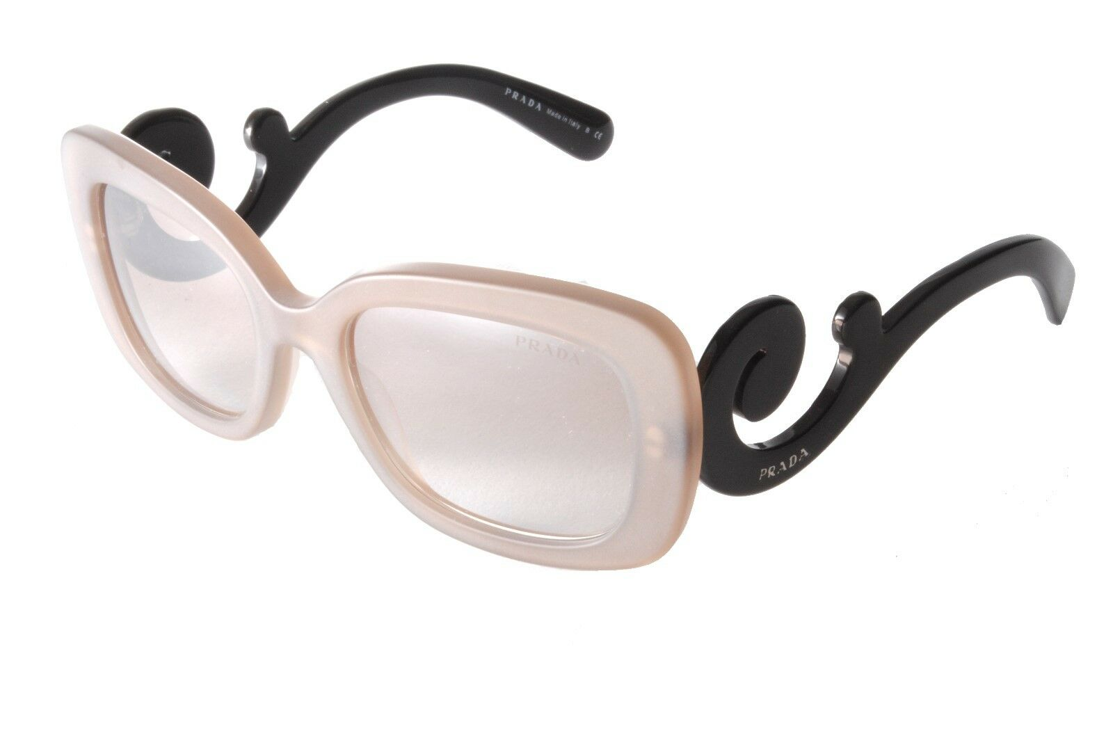 ca34a9f49df Prada PR 27OS UBU4O0 Frosted Brown Brown Silver Mirror Sunglasses ...