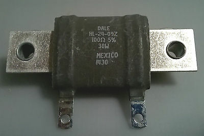 New Vishay Dale Hl-24-09z Wire Wound Resistor 100 Ohms 5 30w Chassis Mount