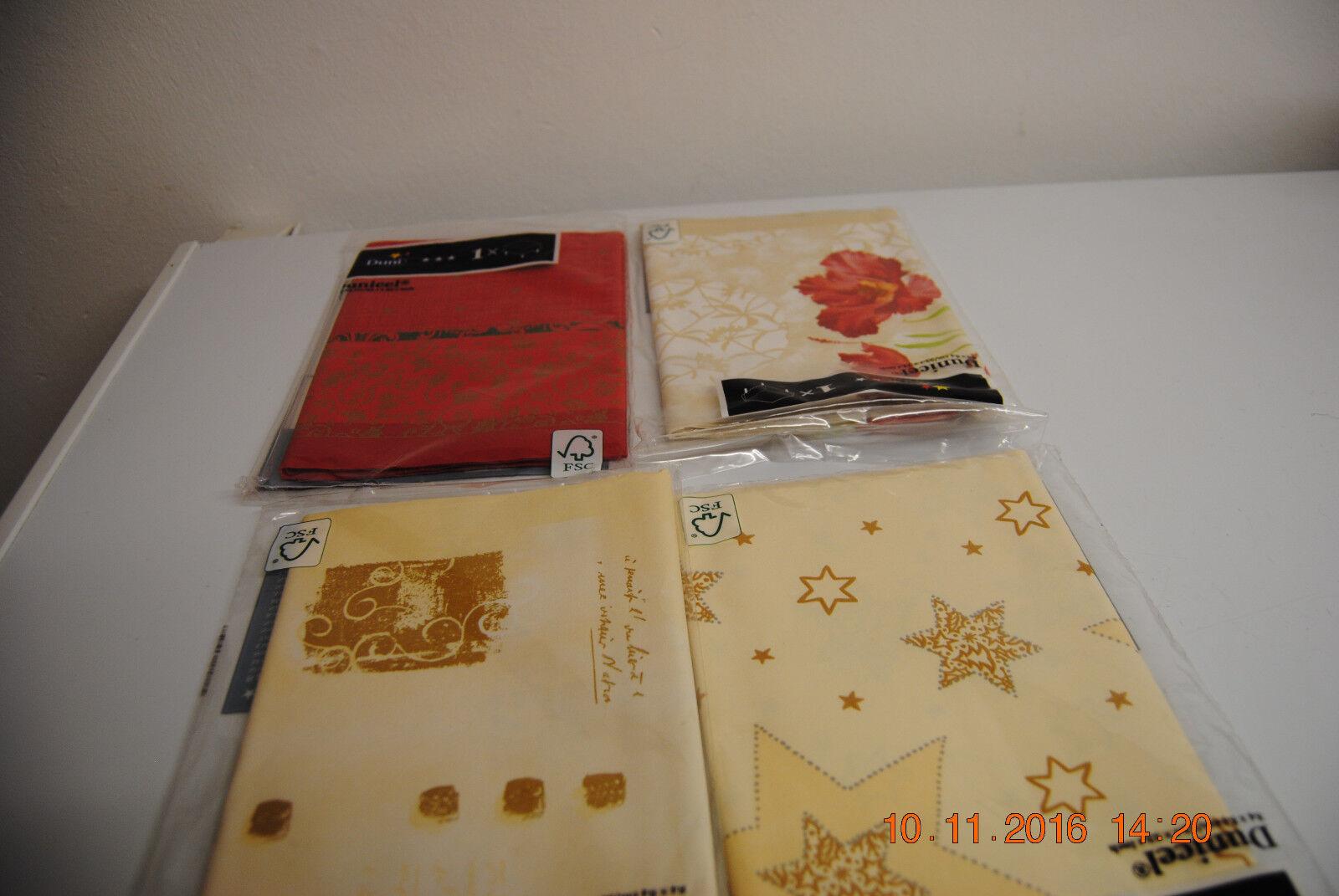 Hochwertige Mitteldecke Rot und Gold  84 X 84 cm Neu Weihnacht-Decke Tischdecke