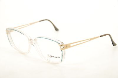 New Authentic Yves Saint Laurent YSL 5051 Y695 Clear/Blue 54mm Eyeglasses RX