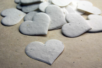 - Heart Shaped Plantable Flower Seed Recycled Paper Wedding Memorial Favors