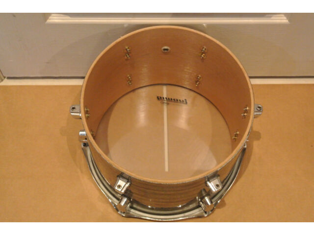 "LUDWIG USA 12"" KEYSTONE X TOM in MINT OYSTER GLASS for YOUR DRUM SET! LOT #F581"