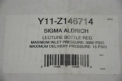 Sigma Aldrich Scientific Lecture Bottle Pressure Regulator Y11-z146714