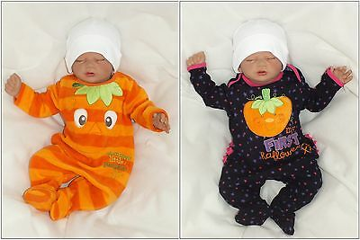 Baby Strampler Kürbis Overall Halloween Orange gr 56 62 68 74 80 86 Englandmode ()