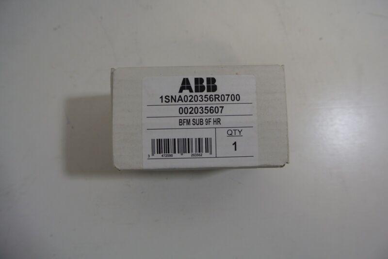ABB Entrelec Terminal Block Cat: 1SNA020356R0700 Cat: BFM.SUB 9F