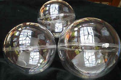 1 Teilbare Kunststoffkugel groß, Acrylkugel, Plastikkugel transparent  20 cm
