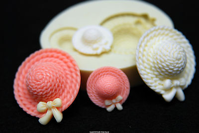 Lovely Hat, Silicone Mold Chocolate Polymer Clay Jewelry Soap Melting Wax Resin