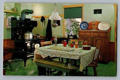 Bird In Hand Intercourse Pennsylvania PA Dutch Amish Kitchen Farm Postcard 1950s