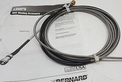 Bernard 44215 15 Long .045-.062 Diameter Wire Feed Mig Welder Gun Liner