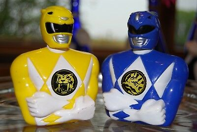 Saban~Blue and Yellow~1993~Power Rangers~Candy Dispensers (empty)  - Blue And Yellow Candy