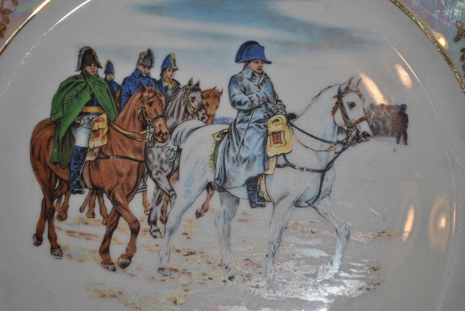 ASSIETTE NAPOLÉON - BATAILLE D'IENA 1806 - PORCELAINE BAVARIA GERMANY (4)