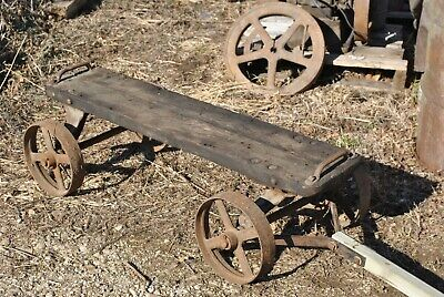 Original Sandwich Gas Engine Hit Miss Cast Iron Hand Trucks