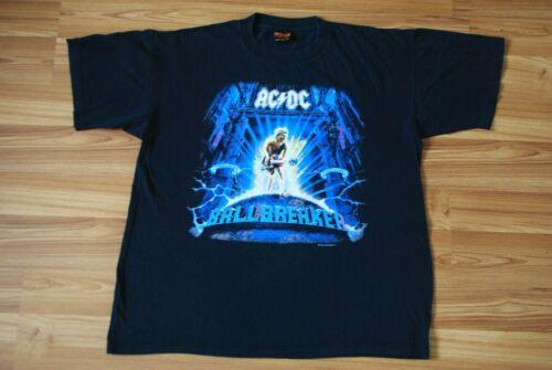 AC/DC BALL BREAKER MENS BROCKUM GRAPHIC T-SHIRT BLACK 1996 WORLD TOUR VINTAGE XL