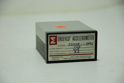 Endevco 2222b Piezoelectonic Accelerometer Wcable