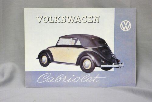 1949 VOLKSWAGEN CABRIOLET DEALER SALES BROCHURE REPRINT COPY BY VVWCA 1989