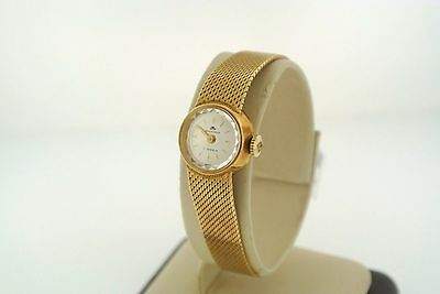 Vintage Bucherer Ladies 18k Yellow Gold Wristwatch 17 Jewel Movement