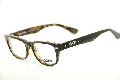 New Authentic Superdry Glasses jetstar. c:104 Black/Tortoise 52mm Eyeglasses RX