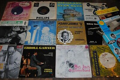 "LOT 15 X 7"" SINGLE VINYL *JAZZ* (JAMES-BECHET-GARNER-CONNIFF) 45 TOURS/45 TOEREN"