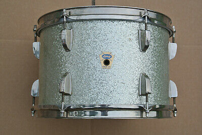 """RARE 60's TRANSITION Ludwig 12"""" SILVER SPARKLE PEARL TOM for YOUR DRUM SET! #F50"""