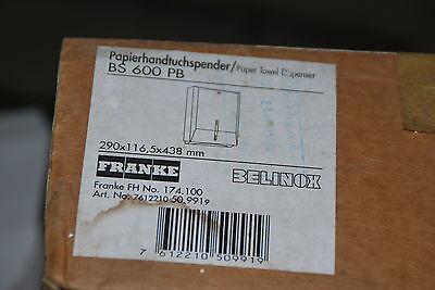 Pb Handtuch (FRANKE PAPIERHANDTUCHSPENDER BELINOX BS 600 PB 290 x 116,5 x 438 mm NEU)