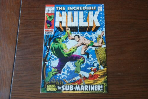 Incredible Hulk 118 VF/NM Silver Age comic featuring the Sub-Mariner!
