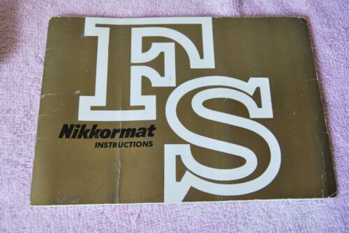 very rare Nikkormat FS instruction manual Nikon 1965