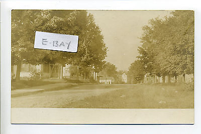 Georgetown MA Mass RPPC real photo street view, homes, early