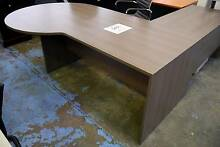 RRP. $1195 Large Grey Office Executive Managers Desk & Return Melbourne CBD Melbourne City Preview